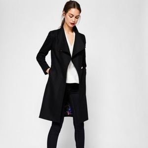 a76ad39e54355 Ted Baker Jackets   Coats - Ted Baker Kikiie Cashmere-blend Wrap Front Coat